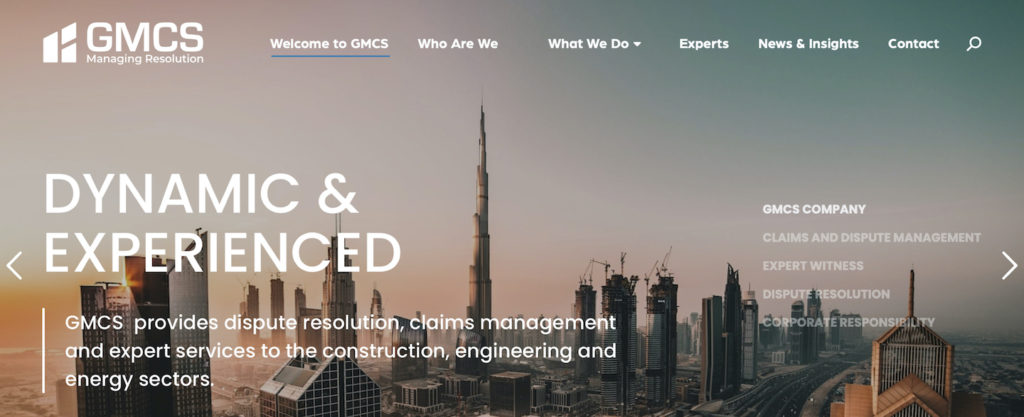 GMCS New Website Home Screen